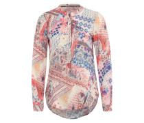 Bluse mit Ethno-Print rot / blau / mischfarben