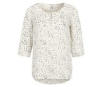 Bluse mit Allover-Print naturweiß
