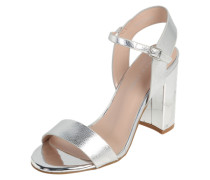 High Heel Sandalette 'Strike' silber