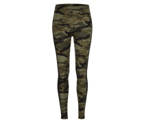 Leggings 'Camo Stripe' grün / schwarz