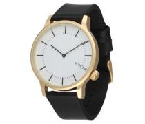 Armbanduhr 'Winston Regal' gold / schwarz