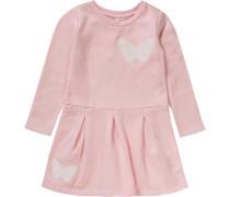 Jerseykleid rosa / weiß