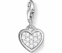 Charm-Einhänger 'Herz 0967-051-14' silber / weiß