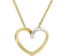 Jewels Anhänger »Herz« mit Brilliant gold