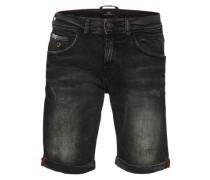 Jeansshort 'lance' black denim