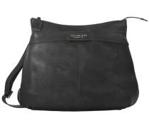 Sfoderata Soft Donna Umhängetasche Leder 46 cm schwarz