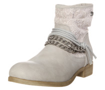 Stiefelette rosa / silber / offwhite