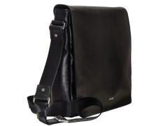 Carson Miron Umhängetasche Leder 30 cm Laptopfach schwarz