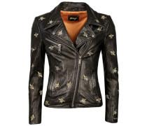 Biker-Jacke mit Stickereien 'Blackridge'
