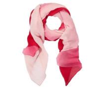 Leichter Plissée-Schal pink
