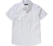 gemustertes Hemd weiß