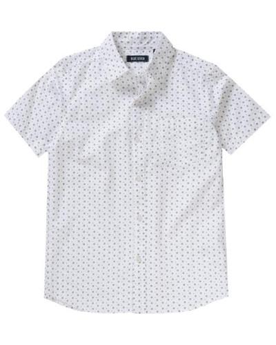gemustertes Hemd grau / weiß