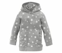 Kapuzensweatshirt grau / weiß