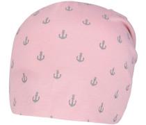 Mütze grau / pink