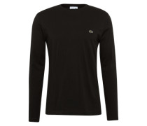 Langarmshirt mit Label-Patch schwarz