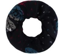 Loop kobaltblau / grau / rot / weiß