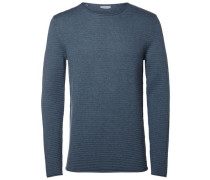 Crew Neck-Sweatshirt blaumeliert