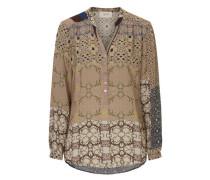 Bluse mit grafischem Allover Muster