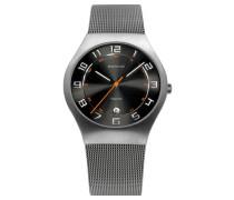 Armbanduhr silbergrau / schwarz / silber