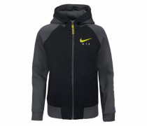 Kapuzensweatjacke 'hoodie FZ BF' gelb / grau / schwarz