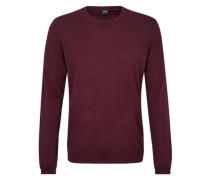 Leichter Pullover aus Merinowolle rot