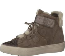 Sneaker aus Leder beige