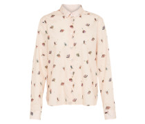 Bluse mit Muster mischfarben / puder