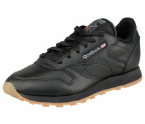 Leather W Sneaker schwarz
