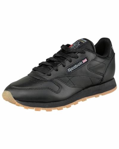 reebok damen reebok classic leather w sneaker schwarz reduziert. Black Bedroom Furniture Sets. Home Design Ideas