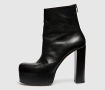 Plateau-Patent-Schlangenmuster-Stiefel schwarz