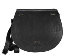 Rosella Umhängetasche Leder 30 cm schwarz