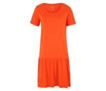 Kleid mit kurzen Ärmeln orangerot