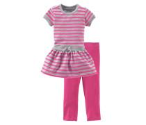 Kleid & Leggings (Set 2 tlg.) grau / pink