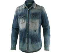 Langarmhemd 'Rohan' blue denim