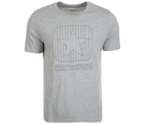 Box Star Quilted T-Shirt Herren grau