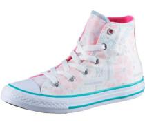 Chuck Taylor All Star Hi Sneaker Mädchen royalblau / pink / weiß