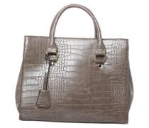 Handtasche mit Reptilienprägung braun