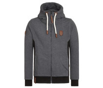 Zipped Jacket 'Birol IX' anthrazit / dunkelgrau / graumeliert / schwarz