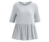 Peplum-Bluse mit 2/4 Ärmeln grau
