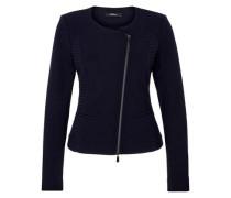 Blazer-Jacke mit Strukturmuster blau