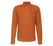 Hemd mit Kentkragen orange