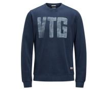 Bedrucktes Sweatshirt nachtblau
