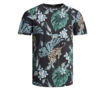 Bedrucktes T-Shirt anthrazit / mischfarben