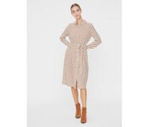 Kleid beige / bronze