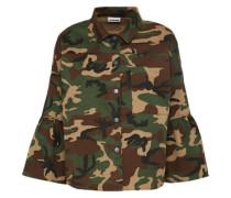 Jacke 'qula' im Army-Look khaki / oliv