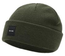 Strick-Mütze grün
