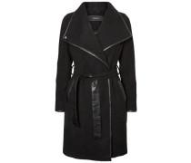 Woll-Mantel schwarz