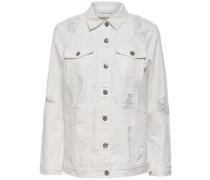 Lange Jeansjacke weiß