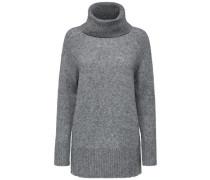 Weicher Woll-Rollkragenpullover grau