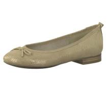 Klassische Ballerinas beige / gold